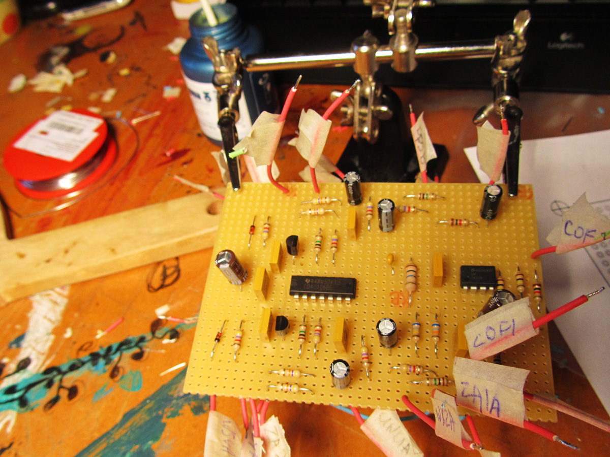 Making Of Diy Synth Weird Sound Generator Circuit Diode Switched Synthesiser Mfos Wsg